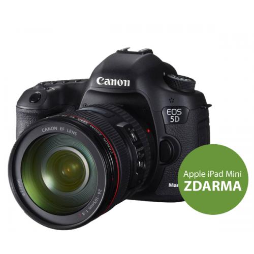 CANON EOS 5D Mark III + EF 24-105 mm + dárek tablet Apple iPad mini 16GB